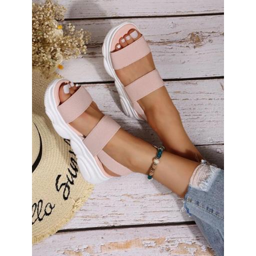 Sandalias minimalista cuña