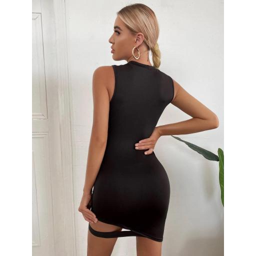Vestido Cut-out Liso Sexy [1]