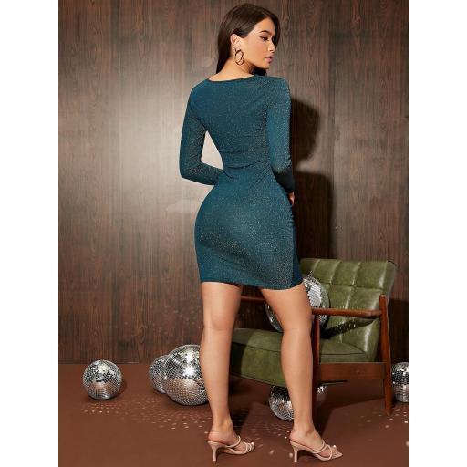 Vestido ajustado bajo asimétrico [1]