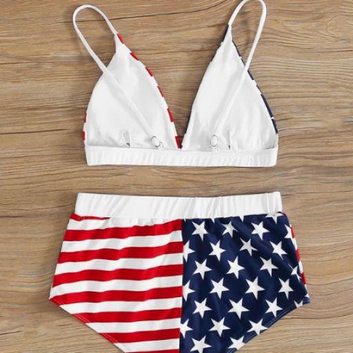 Bañador bikini shorts con estampado de bandera de los E.E.U.U. [1]