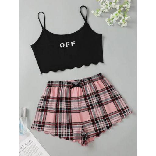 Sets Pijama Lazo Letras Casual [0]
