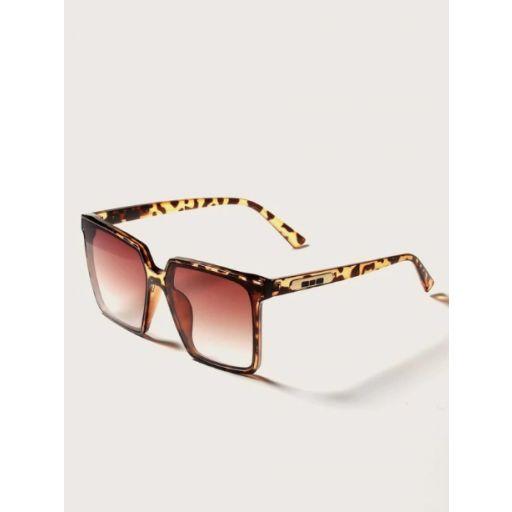 Gafas de sol de marco de leopardo con estuche [1]