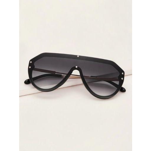 Gafas de sol arriba plana con diseño de remache  [1]