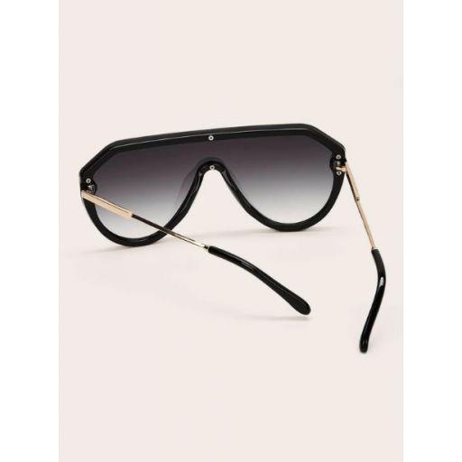 Gafas de sol arriba plana con diseño de remache  [2]
