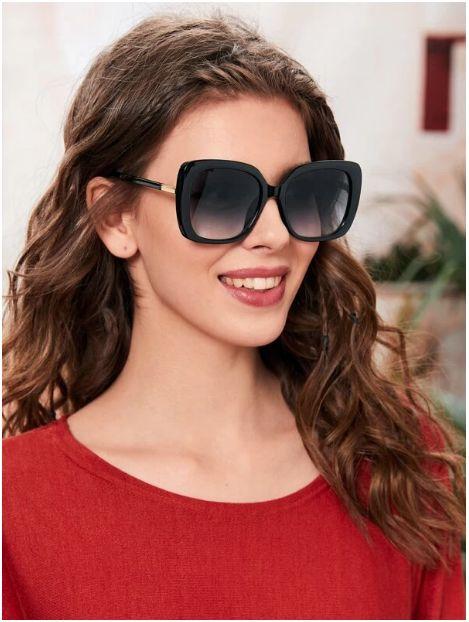 Gafas de sol de lentes gradientes de marco