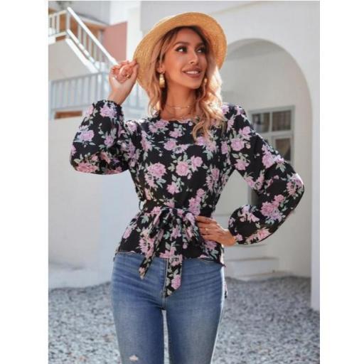 Blusas Cinta Floral Bohemio [3]