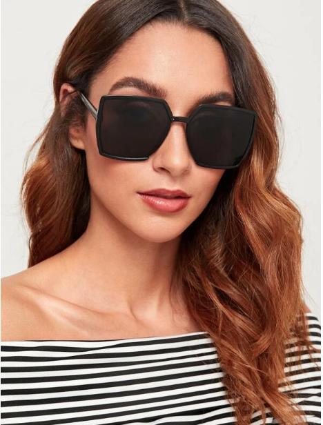 Gafas de sol cuadradas unicolor