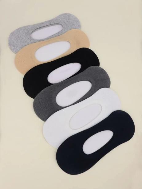6 pares calcetines invisibles unicolor