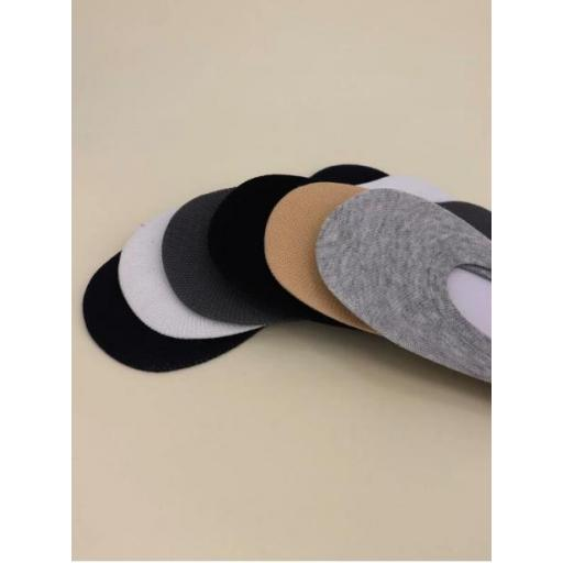 6 pares calcetines invisibles unicolor [2]