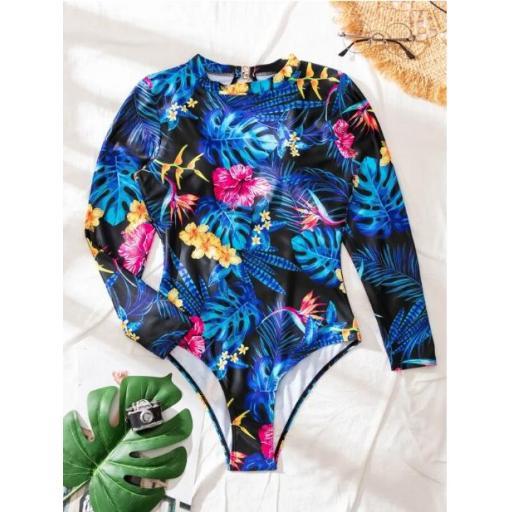 Bañador una pieza tropical [2]