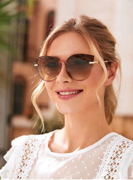 Gafas de sol de ojo de gato de marco acrílico