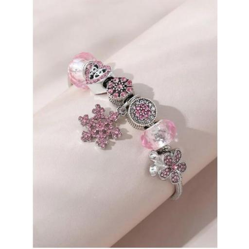 Pulsera con diseño de flor con diamante