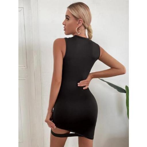 Vestido Cut-out Liso Sexy [2]
