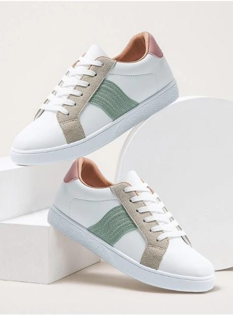 Zapatillas de skate de color combinado