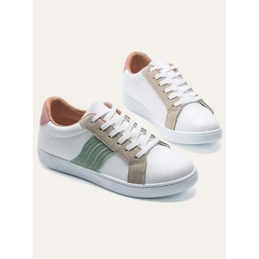 Zapatillas de skate de color combinado [1]