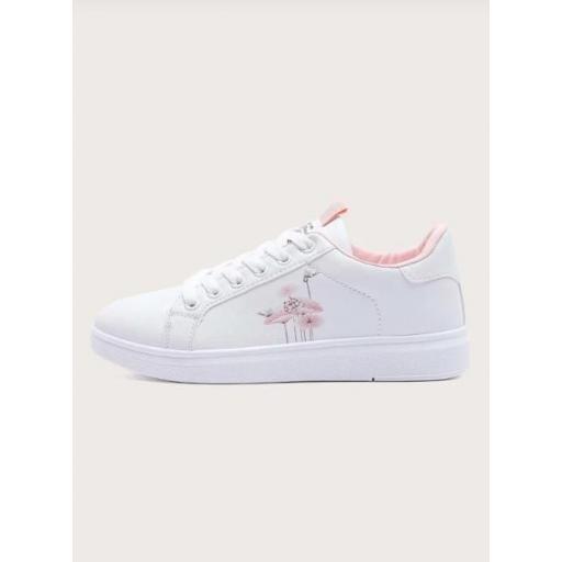 Zapatillas de skate con patrón de planta con cordón delantero [1]