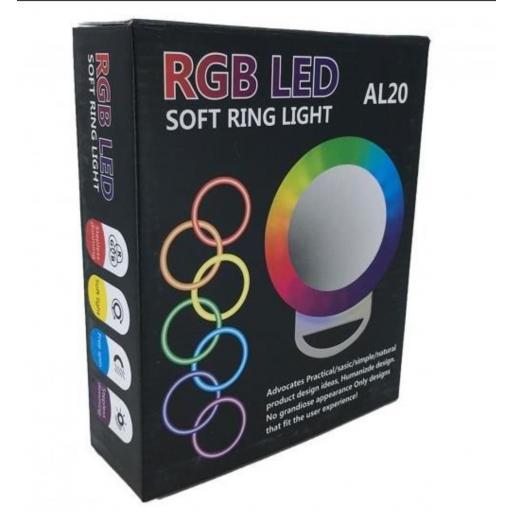 Aro de luz multicolor RGB para móvil.