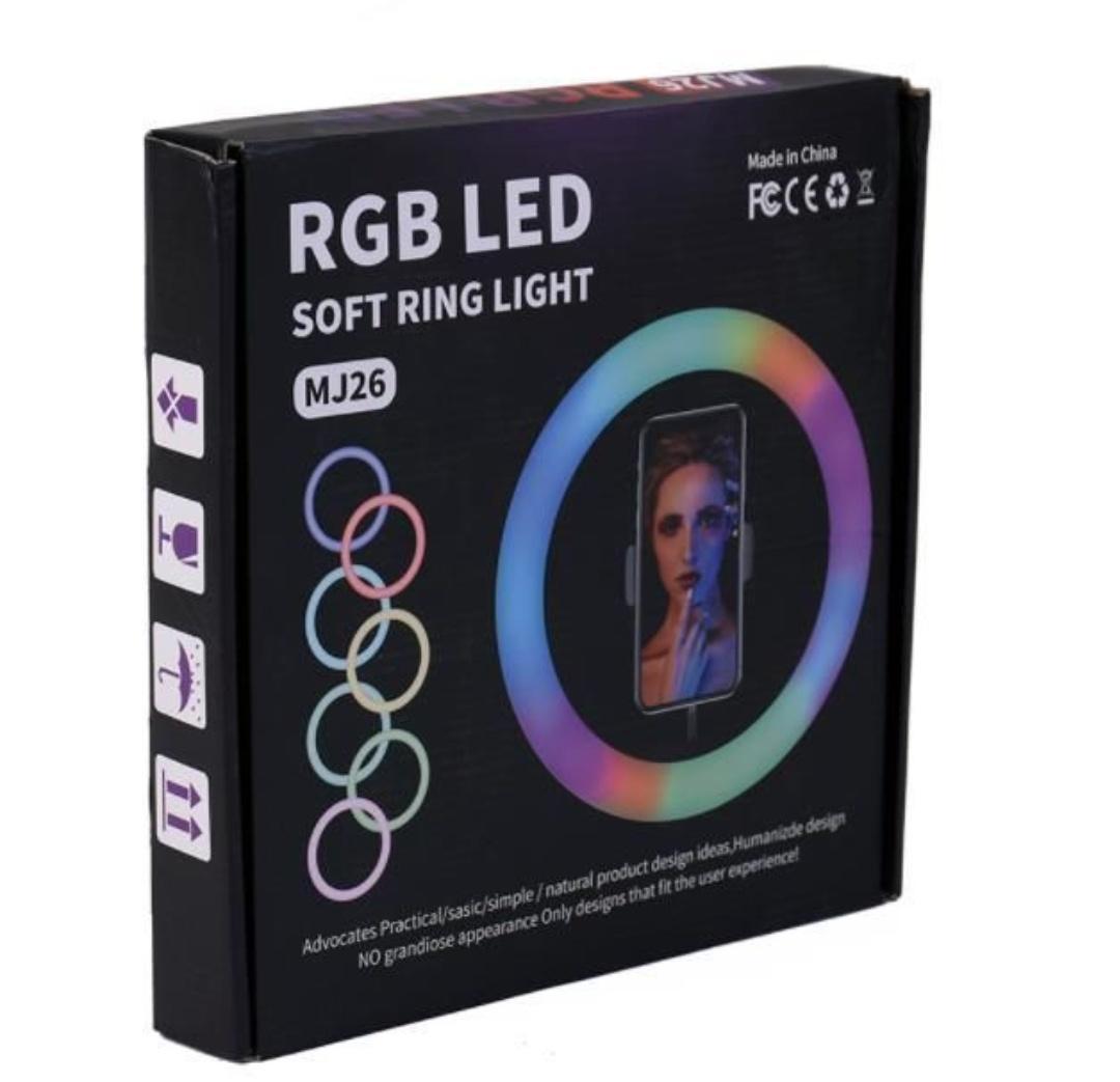 Aro de luz led multicolor.