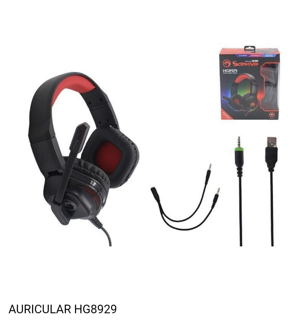 Auricular gamer con cable scorpion hg8929.