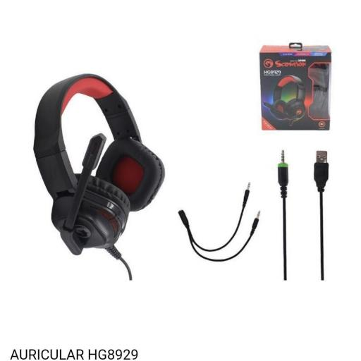 Auricular gamer con cable scorpion hg8929. [0]