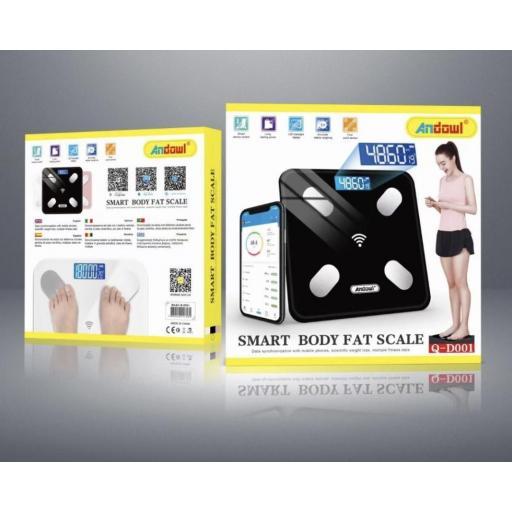 Báscula digital con seguimiento y control desde smartphone.