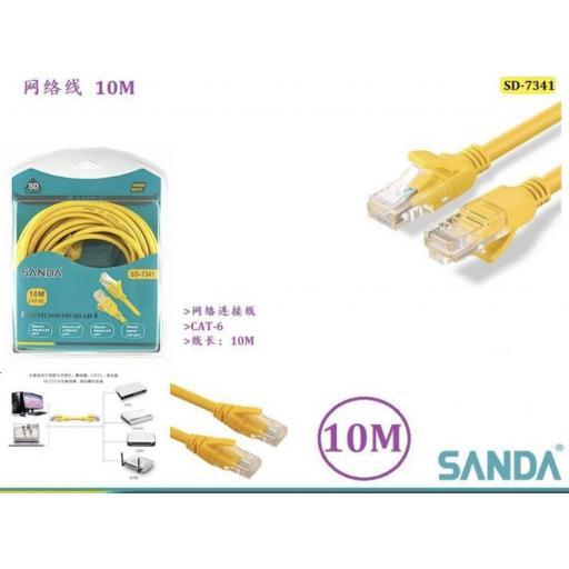 Cable de red de 10m.