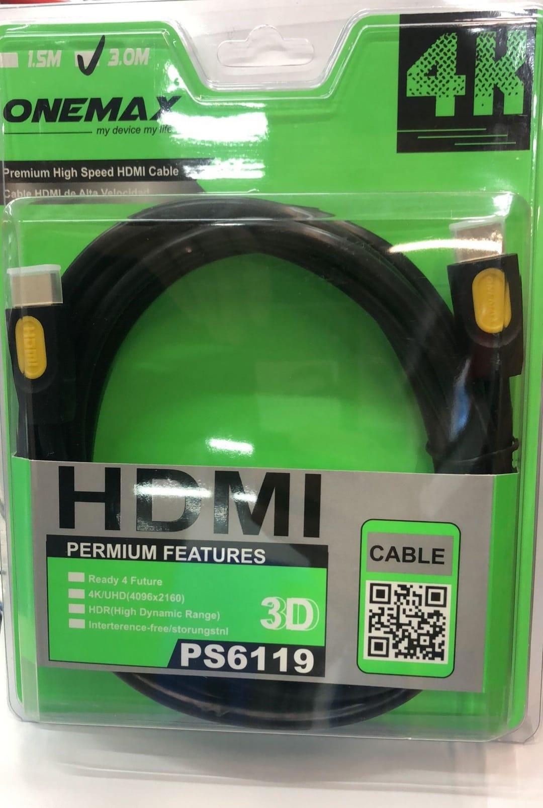 Cable HDMI 4k. 3 METROS.