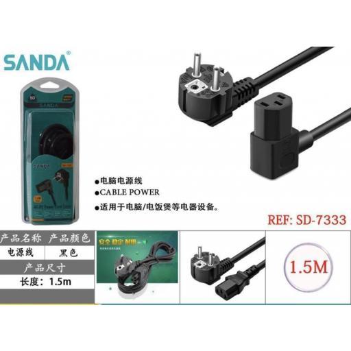 Cable alimentación PC.