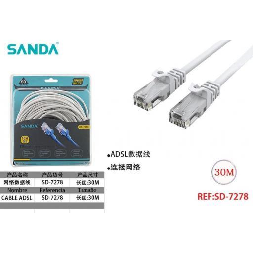 Cable de red de 30m.