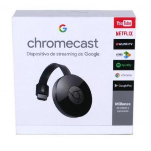 Chromecast G2 . Transfiere tus archivos multimedia a tu televisión.