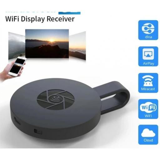 Chromecast G2 . Transfiere tus archivos multimedia a tu televisión.  [1]