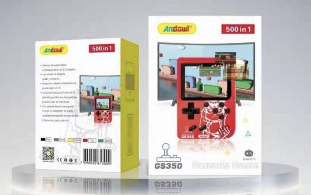 Consola portátil 500 juegos en 1. Clásicos 8 bits.