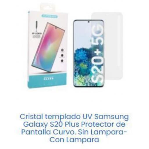 Cristal templado Samsung S20 plus