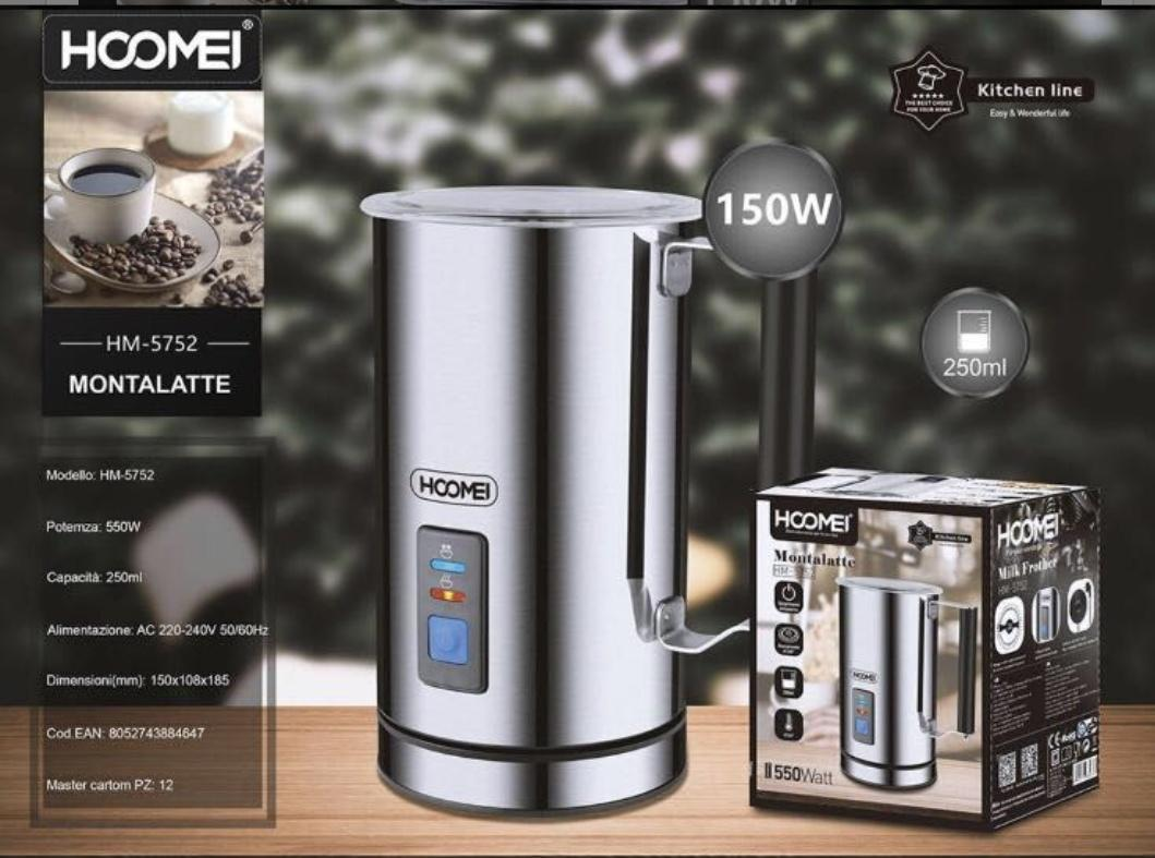 Espumador de leche electrónico. 150w.
