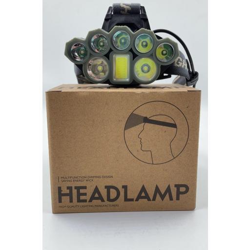 Linterna de cabeza. Baterías recargables por usb.