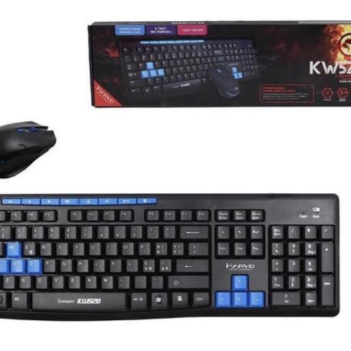 Teclado+ratón inalámbrico gamer scorpion kw520.
