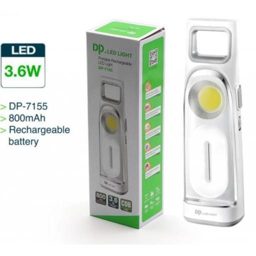 Lámpara led con batería recargable.
