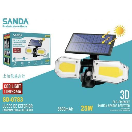 Lámpara solar de pared. 25w.