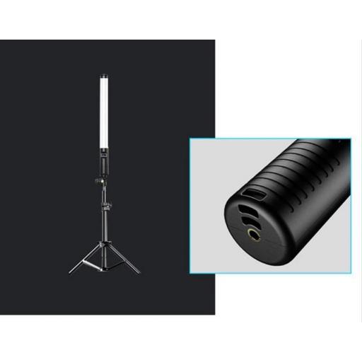 Palo-Stick RGB Multi-Color Telescópica Recargable Apokin-K5 50CM con Bolsa y Mando a Distancia
