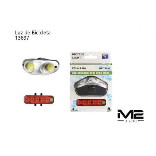 Luz para bicicleta M2. Recargable.