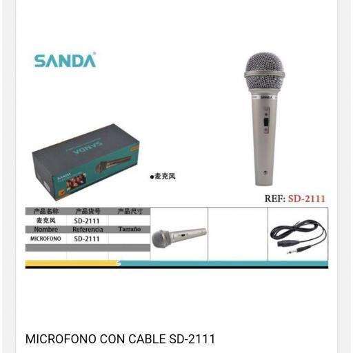 Micrófono con cable .