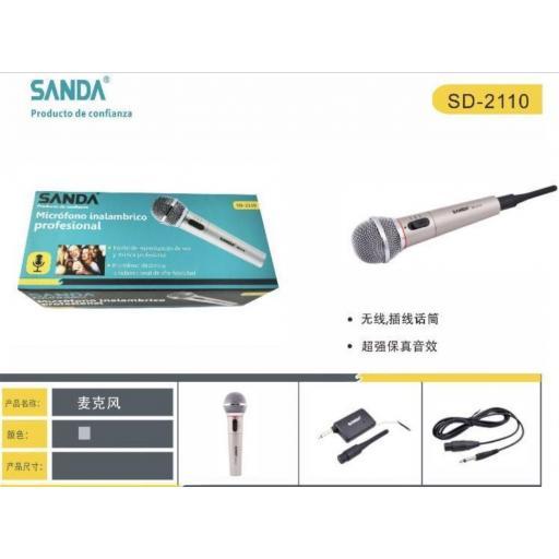 Micrófono inalámbrico karaoke.