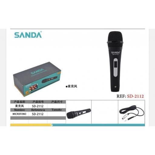 Micrófono con cable.