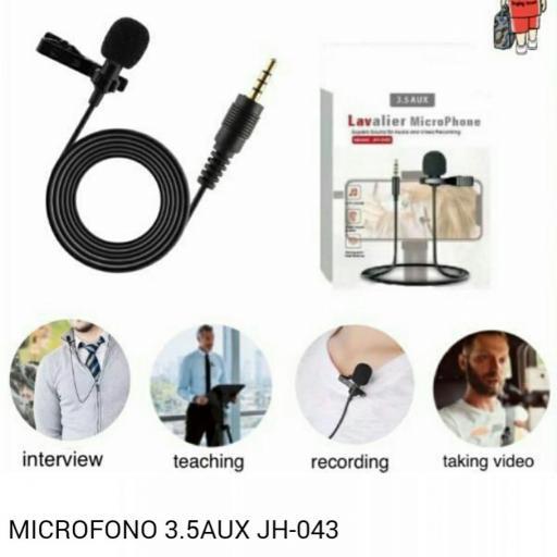 Micrófono para smartphone 3.5 Aux JH-043