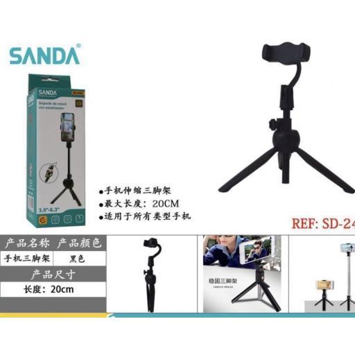 Mini soporte 20cm para smartphone.