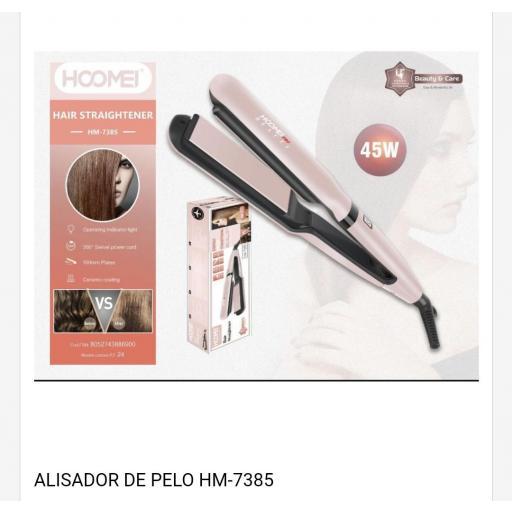 Plancha de cabello con revestimiento de cerámica 45w.