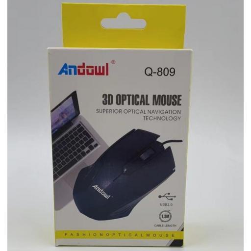 Ratón con cable Andowl.