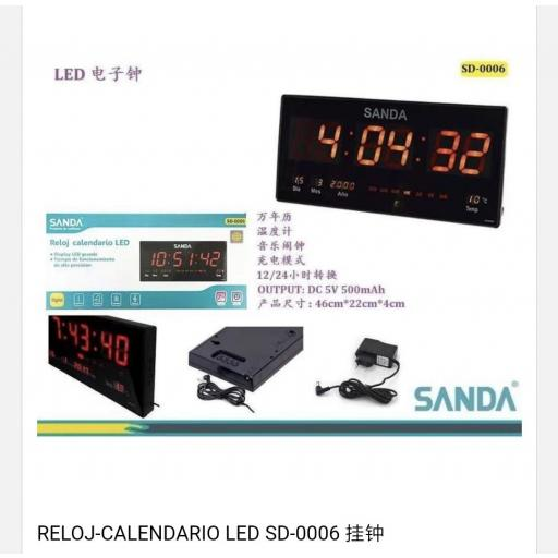 Reloj-calendario digital. 46*22*4cm
