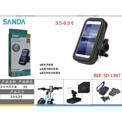 Soporte de smartphone para bicicleta.