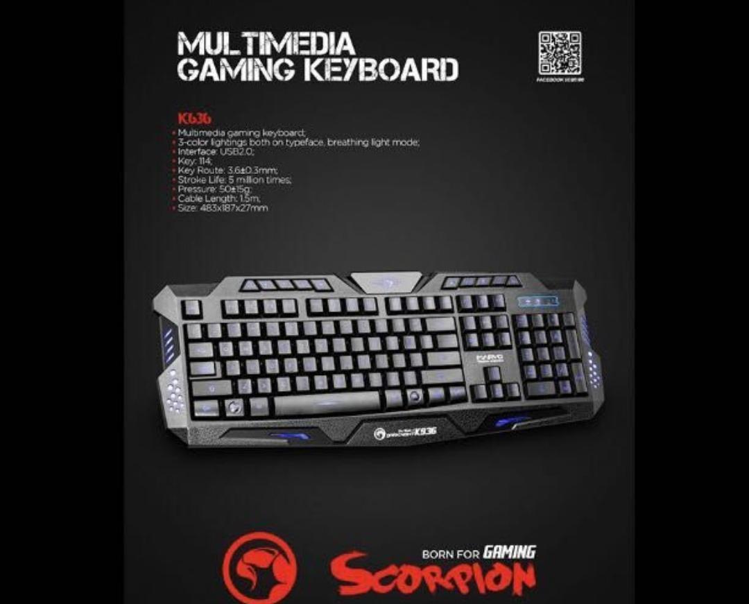 Teclado gamer con cable Scorpion.